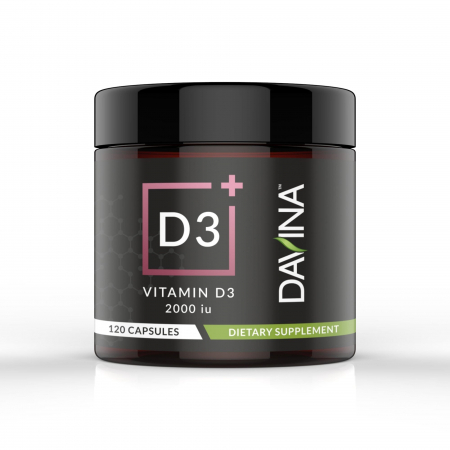 Davina Vitamin D3 Dietary Supplement 120 capsules