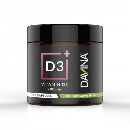 Davina Vitamin D3 Dietary Supplement 120 capsules